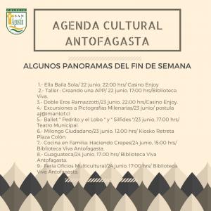 AGENDA CULTURAL ANTOFAGASTA
